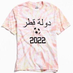 Altru Apparel Qatar 2020 Tie-Dye T-Shirt Large NWT